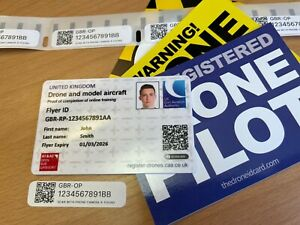 Drone Stickers & Drone ID Card - Photo ID card + Drone Operator Stickers