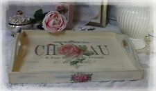 "~ Vintage ~ Shabby Chic ~ Wooden ~ Decorative ~ Serving ~ Tray ~ ""Chateau Rue"" ~"