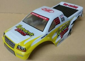 1/10 RC Monster Truck Off Road Body Shell Yellow & White