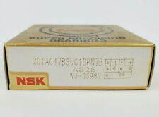 NSK 20TAC47BSUC10PN7B CNC Ballscrew Support Bearing, Factory Sealed New!