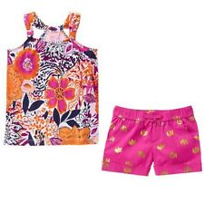 Gymboree NWT Spice Market Size 4 Tank Top GOLD Elephant Shorts 2 PC LOT Outfit