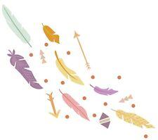 Vinyl Decor Home Bedroom Nursery Art Rainbow Polka Dot Feathers Arrow Wall Decal