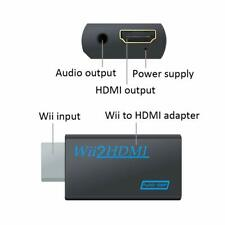 Wii Input to HDMI 1080P HD Audio Output Converter Adapter 3.5mm Jack Audio UK