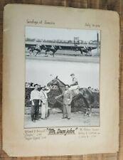 "VINTAGE ""Winner's Circle"" Horse Racing Photo - July 30 1946 B/W ""Mr. Dumjohn"""