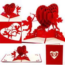3D Pop-Up Card Birthday Wedding Valentine Anniversary Greeting Cards Invitations