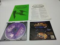 """Vintage Star Wars """"Tie Fighter"""" Collector's CD-ROM Video Game, manual, & guides"""