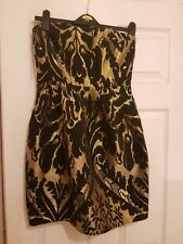 stunning black and gold christmas party dress size 14 Strapless