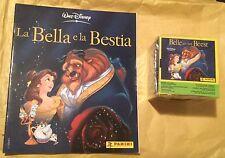 ALBUM + BOX 50 BUSTINE FIGURINE LA BELLA E LA BESTIA PRINCIPESSE PANINI DISNEY
