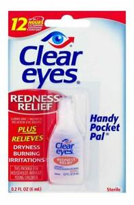 Clear Eyes Handy Pocket Pal Redness Relief Eye Drops 0.2 Oz Exp 2023/01