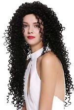 Women's Wig Very Long Curls Curly Afro Caribbean Style Black DW2315