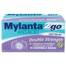Mylanta 2Go Double Strength Tablets 48 Relief From Indigestion, Heartburn