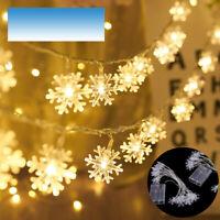 3M/20LED String Lights Snowflake Xmas Tree Christmas Party Home Warm Lamp Decor