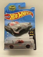 2018 Hotwheels T/V Series Batmobile In Gray With Flames