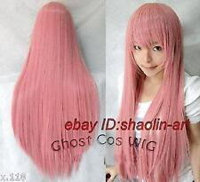Wigs,VOCALOID 2 Megurine Luka , rose long raide animation Cosplay fête