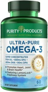 Purity Products - Ultra Pure Omega 3,60 softgels, Blue