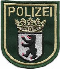 Polizei BERLIN  Abzeichen inaktuell 9,5 cm  grün - gestickt  '90er Police Patch