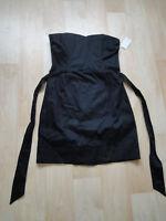 NEU H&M Damen stretch Bustier Kleid Gr 40 schwarz Minikleid