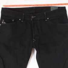 Mens Diesel DARRON 008QU Slim Tapered Black Jeans W35 W36 L32