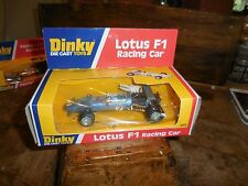 Vintage Dinky 225 Lotus F1 Racing Car MIB Box Shows Some Wear 1976 Cello Pack