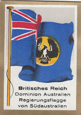 DRAPEAU British Empire britannique South Australia Dominion FLAG CARD 30s
