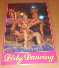 Dirty Dancing 1988 Poster 34x22 (mud wrestling) Models Funky Hollywood Tropicana