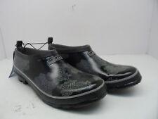 WindRiver Women's Low Cut  Heeled Rubber Clogs Black/Multi Size 10M