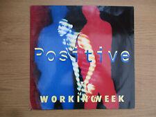 """WORKING WEEK - POSITIVE Vinyl 12"""" Maxi Single UK 1991 Acid Jazz VG VG+  TENX 340"""