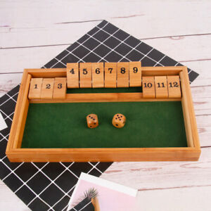Bar Wooden Dice Game Shut The Box Game Four-sided Party Tabletop Board Games LA