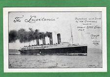 Cunard The Lusitania Torpedoed and Sunk pc unused Ref M11