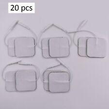 Lot de 20 electrodes electrostimulateurs auto adhésives musculaires autocollants