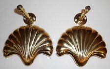 Vintage Solid Brass Metal Drapery Curtain Tie Backs Set of 2 Nautical Sea Shell