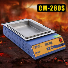 1.2KW Preheating Desoldering Bath Lead-Free Titanium Soldering Pot CM-180S USA