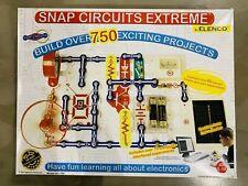Snap Circuits Extreme 750 Experiments Electronics Kit Elenco SC-750 80+ Parts