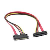 50cm 22P 7+15Pin Male M/F Serial ATA SATA FemaleData Power Combo Extension Kable