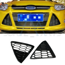 Fit For 2012-2014 Ford Focus Pair of Bumper Grille Bezel Cover HoneyComb 2PCS
