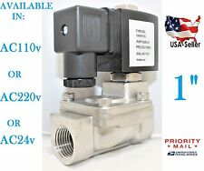 """1"""" Stainless Steel Solenoid Valve Electric Normally Closed Water Gas Air Ro"""