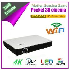 HD DLP 3D Home Cinema Projector LED Bluetooth Android Wifi Presentation HDMI USB
