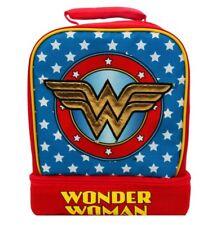 WONDER WOMAN DC Light-Up Lead-Free Dual-Chamber Lunch Tote Bag Box w/ Lights NWT