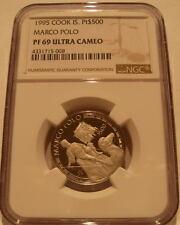 Cook Inseln 1995 Platinum NGC PF69UC Marco Polo Prägung - 1000