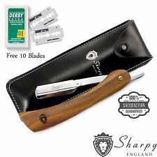 BARBER SALON STRAIGHT CUT THROAT SHAVING RAZOR SHAVE RASOIRS RASOI +10 BLADES