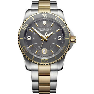 •Victorinox Men's Maverick Swiss Army Watch 241825 very hard to find grey model