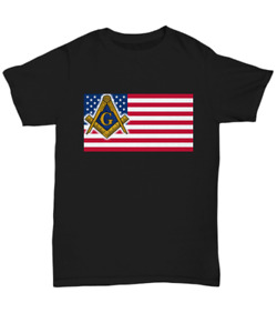 Masonic shirt - USA Freemason flag symbol - Freemasonry Lodge Brotherhood tee