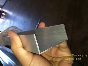 Aluminium Extrusions U C Capping Channel Mill 50mm x 25mm 6.5m Coolroom Panel