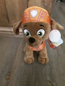 """NEW OFFICIAL 12"""" PAW PATROL ZUMA PUP PLUSH SOFT TOY NICKELODEON DOG"""