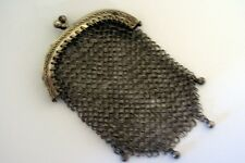 BOURSE AUMONIERE PORTE LOUIS D'OR en METAL ARGENTE silver plated mesh purse
