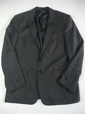 KENNETH COLE NY Men 40S 34S Black Wool Jacket Sport Blazer Coat 2 Button 2 Vents