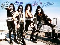 Kiss Rooftop 1974 8x11 Autographed Photo When Kiss Ruled the World