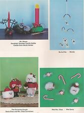 Macrame Patterns Butterfly Mobile & Holiday Candle Holders #PD1173 Shortcuts