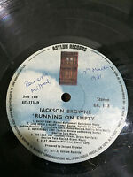 JACKSON BROWNE RUNNING ON EMPTY RARE LP RECORD UNSEEN INDIA INDIAN press VG-