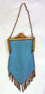 Vintage Turquoise Mandalian Mesh Purse